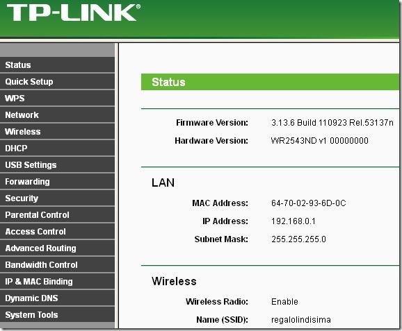 tp-link wr2543nd