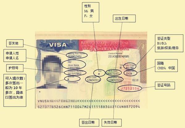 美国10年签证