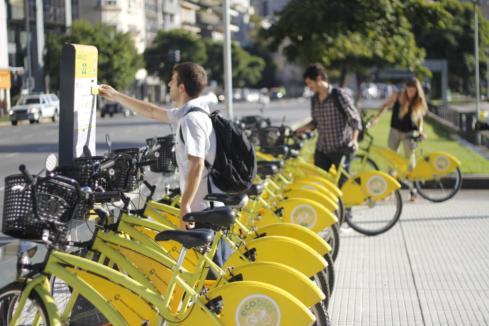 阿根廷首都的免费自行车Ecobici